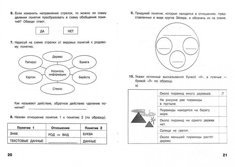Контрольная работа по теме мир моделей 4 класс информатика матвеева анастасия филина