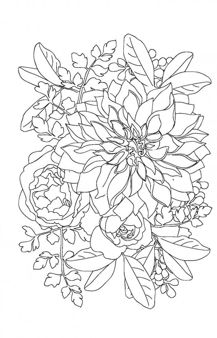 Иллюстрация 10 из 32 для Волшебные цветы. Мини-раскраска ...
