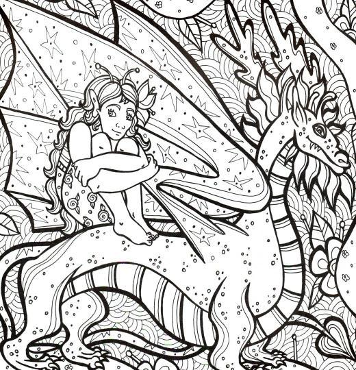 раскраска антистресс невероятные драконы