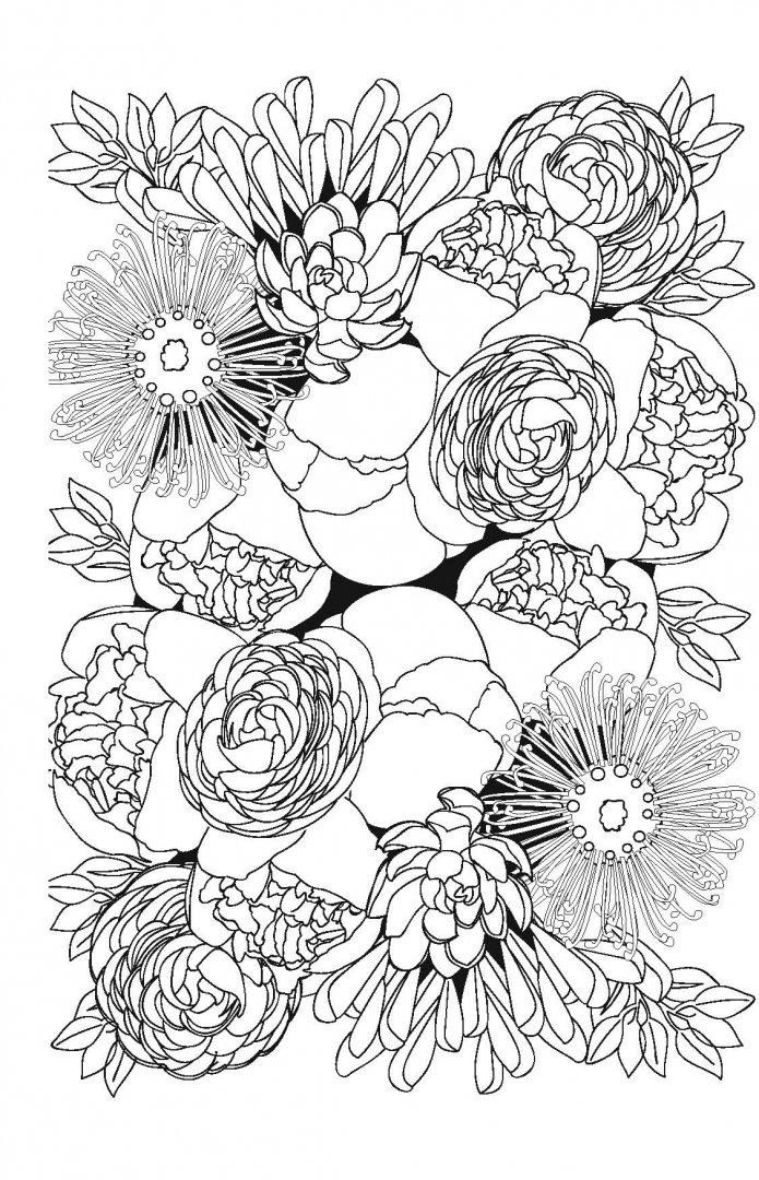Иллюстрация 6 из 19 для Волшебные цветы. Мини-раскраска ...