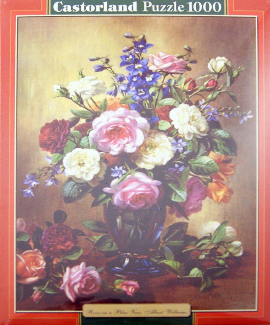 """Иллюстрация 1 из 4 для Puzzle 1000, """"Розы в вазе"""" (C-102617)   Лабиринт - игрушки. Источник: Лабиринт"""